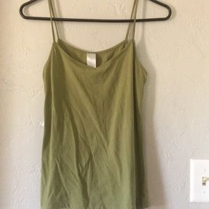 Tops - Women's plain green tank top